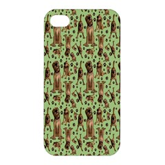 Puppy Dog Pattern Apple Iphone 4/4s Hardshell Case by BangZart