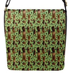 Puppy Dog Pattern Flap Messenger Bag (s)