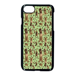 Puppy Dog Pattern Apple Iphone 7 Seamless Case (black) by BangZart