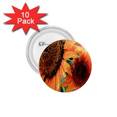 Sunflower Art  Artistic Effect Background 1 75  Buttons (10 Pack) by BangZart