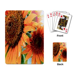 Sunflower Art  Artistic Effect Background Playing Card