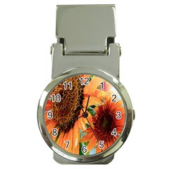 Sunflower Art  Artistic Effect Background Money Clip Watches by BangZart