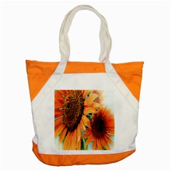 Sunflower Art  Artistic Effect Background Accent Tote Bag by BangZart