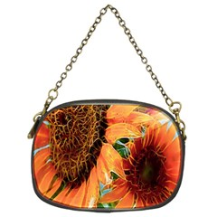 Sunflower Art  Artistic Effect Background Chain Purses (two Sides)  by BangZart