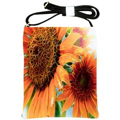 Sunflower Art  Artistic Effect Background Shoulder Sling Bags