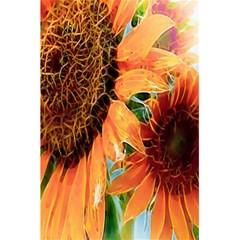 Sunflower Art  Artistic Effect Background 5 5  X 8 5  Notebooks by BangZart