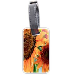 Sunflower Art  Artistic Effect Background Luggage Tags (two Sides)