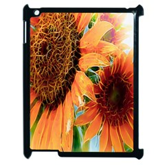 Sunflower Art  Artistic Effect Background Apple Ipad 2 Case (black) by BangZart