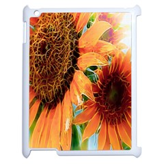 Sunflower Art  Artistic Effect Background Apple Ipad 2 Case (white)