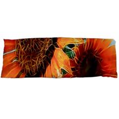 Sunflower Art  Artistic Effect Background Body Pillow Case Dakimakura (two Sides)