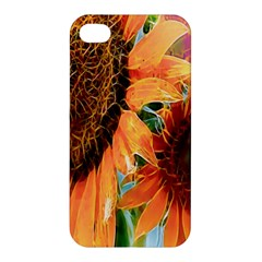Sunflower Art  Artistic Effect Background Apple Iphone 4/4s Premium Hardshell Case by BangZart