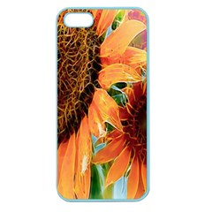 Sunflower Art  Artistic Effect Background Apple Seamless Iphone 5 Case (color)