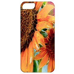 Sunflower Art  Artistic Effect Background Apple Iphone 5 Classic Hardshell Case