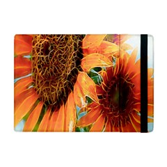 Sunflower Art  Artistic Effect Background Apple Ipad Mini Flip Case by BangZart