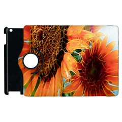 Sunflower Art  Artistic Effect Background Apple Ipad 3/4 Flip 360 Case by BangZart