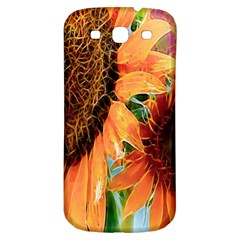 Sunflower Art  Artistic Effect Background Samsung Galaxy S3 S Iii Classic Hardshell Back Case by BangZart