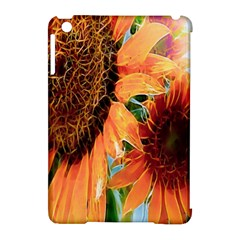 Sunflower Art  Artistic Effect Background Apple Ipad Mini Hardshell Case (compatible With Smart Cover) by BangZart