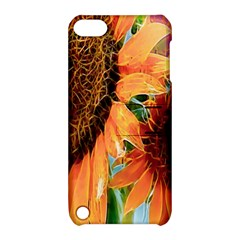 Sunflower Art  Artistic Effect Background Apple Ipod Touch 5 Hardshell Case With Stand by BangZart