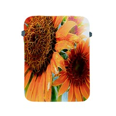 Sunflower Art  Artistic Effect Background Apple Ipad 2/3/4 Protective Soft Cases by BangZart