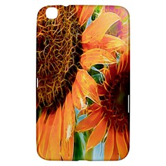 Sunflower Art  Artistic Effect Background Samsung Galaxy Tab 3 (8 ) T3100 Hardshell Case