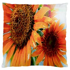 Sunflower Art  Artistic Effect Background Standard Flano Cushion Case (two Sides)