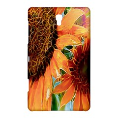 Sunflower Art  Artistic Effect Background Samsung Galaxy Tab S (8 4 ) Hardshell Case