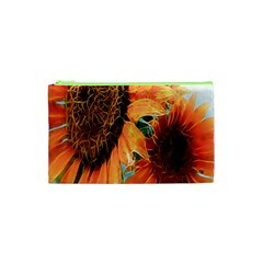 Sunflower Art  Artistic Effect Background Cosmetic Bag (xs) by BangZart