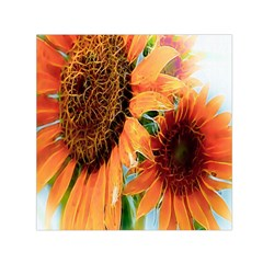 Sunflower Art  Artistic Effect Background Small Satin Scarf (square) by BangZart