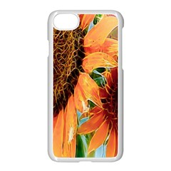 Sunflower Art  Artistic Effect Background Apple Iphone 7 Seamless Case (white) by BangZart