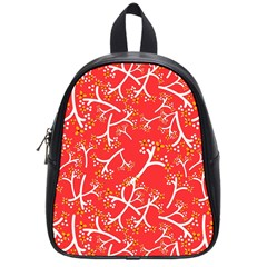Small Flowers Pattern Floral Seamless Pattern Vector School Bags (small)