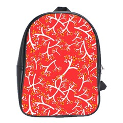 Small Flowers Pattern Floral Seamless Pattern Vector School Bags (xl)  by BangZart