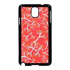 Small Flowers Pattern Floral Seamless Pattern Vector Samsung Galaxy Note 3 Neo Hardshell Case (black)