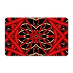 Fractal Wallpaper With Red Tangled Wires Magnet (rectangular)