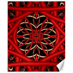 Fractal Wallpaper With Red Tangled Wires Canvas 16  X 20