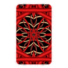 Fractal Wallpaper With Red Tangled Wires Memory Card Reader
