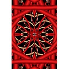 Fractal Wallpaper With Red Tangled Wires 5 5  X 8 5  Notebooks by BangZart