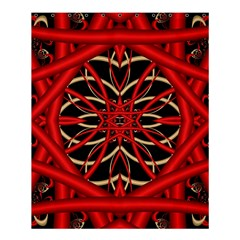 Fractal Wallpaper With Red Tangled Wires Shower Curtain 60  X 72  (medium)  by BangZart