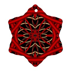 Fractal Wallpaper With Red Tangled Wires Ornament (snowflake)