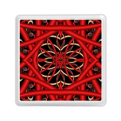 Fractal Wallpaper With Red Tangled Wires Memory Card Reader (square)