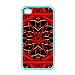 Fractal Wallpaper With Red Tangled Wires Apple Iphone 4 Case (color)