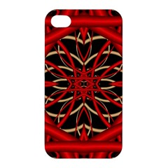 Fractal Wallpaper With Red Tangled Wires Apple Iphone 4/4s Hardshell Case