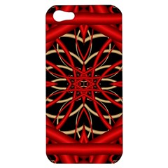 Fractal Wallpaper With Red Tangled Wires Apple Iphone 5 Hardshell Case by BangZart
