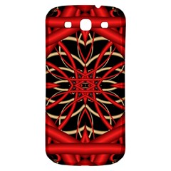 Fractal Wallpaper With Red Tangled Wires Samsung Galaxy S3 S Iii Classic Hardshell Back Case by BangZart