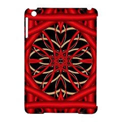 Fractal Wallpaper With Red Tangled Wires Apple Ipad Mini Hardshell Case (compatible With Smart Cover) by BangZart
