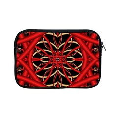 Fractal Wallpaper With Red Tangled Wires Apple Ipad Mini Zipper Cases