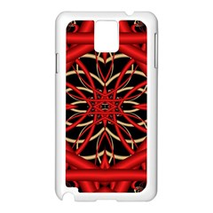Fractal Wallpaper With Red Tangled Wires Samsung Galaxy Note 3 N9005 Case (white)