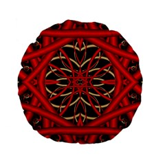 Fractal Wallpaper With Red Tangled Wires Standard 15  Premium Flano Round Cushions by BangZart