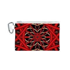 Fractal Wallpaper With Red Tangled Wires Canvas Cosmetic Bag (s) by BangZart