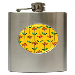 Small Flowers Pattern Floral Seamless Pattern Vector Hip Flask (6 Oz) by BangZart