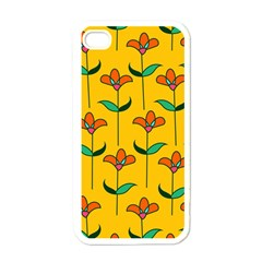 Small Flowers Pattern Floral Seamless Pattern Vector Apple Iphone 4 Case (white) by BangZart